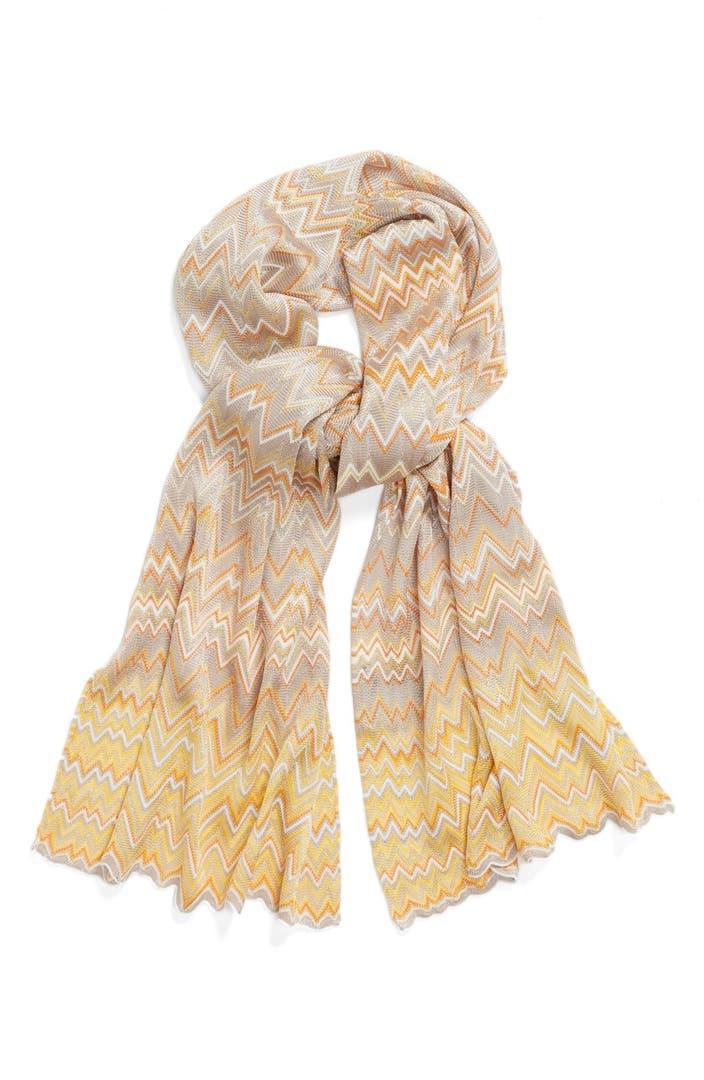 Knitting Zig Zag Scarf Pattern : Missoni tight knit zigzag pattern scarf nordstrom