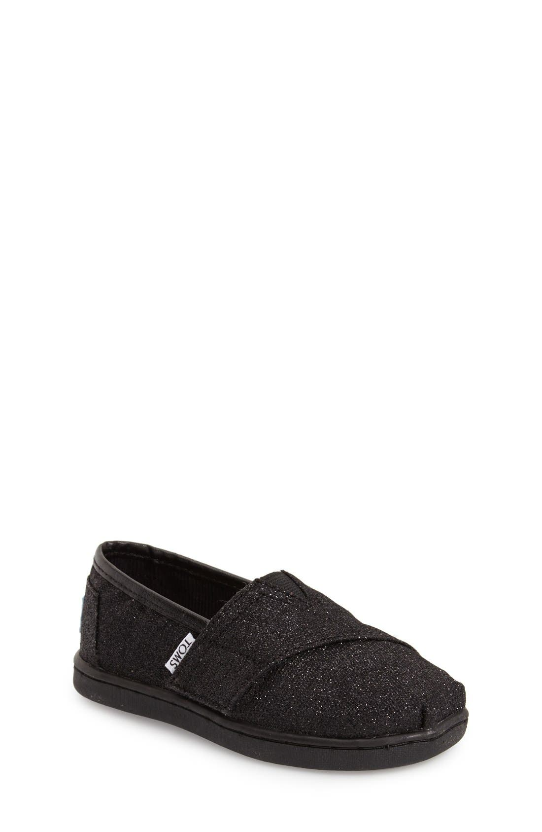 TOMS 'Classic Tiny - Glimmer' Slip-On (Baby, Walker & Toddler)