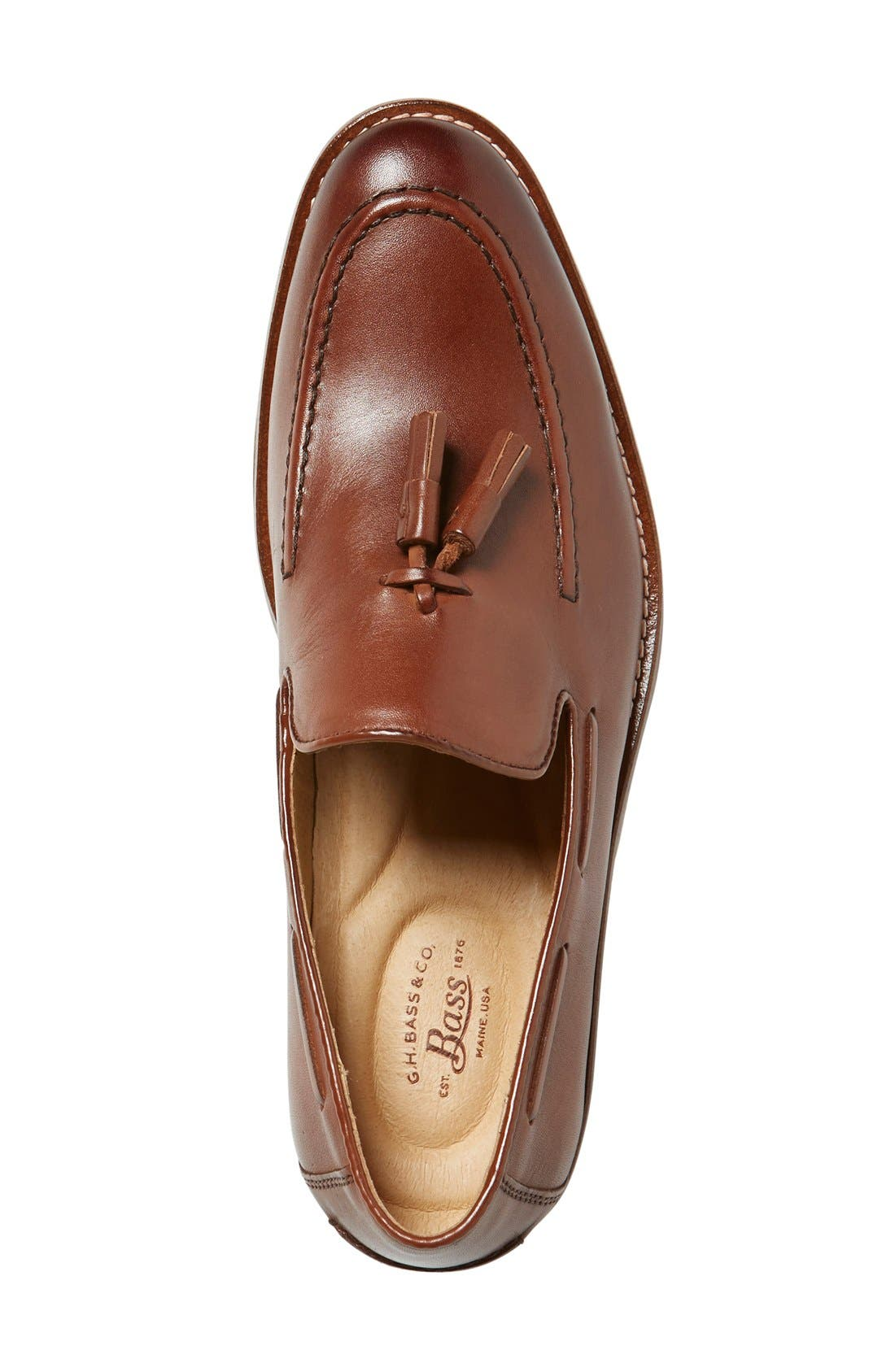 'Cooper' Tassel Loafer,                             Alternate thumbnail 3, color,                             Tan Leather