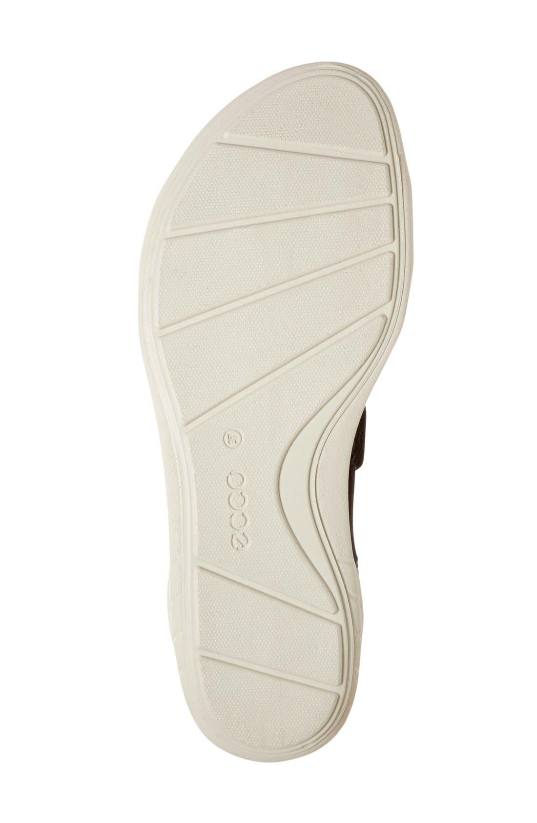 'Bluma' Sport Sandal,                             Alternate thumbnail 4, color,                             Black Leather