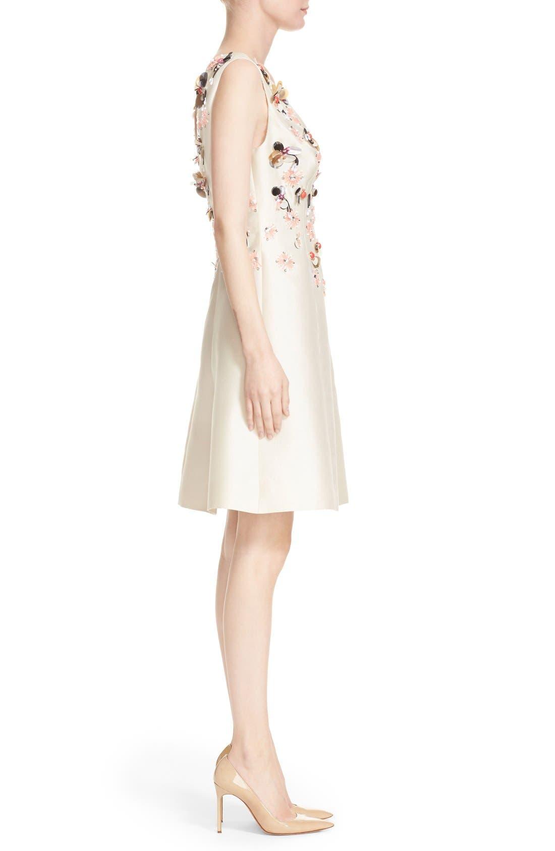 Alternate Image 5  - Lela Rose Embellished Wool & Silk A-Line Dress