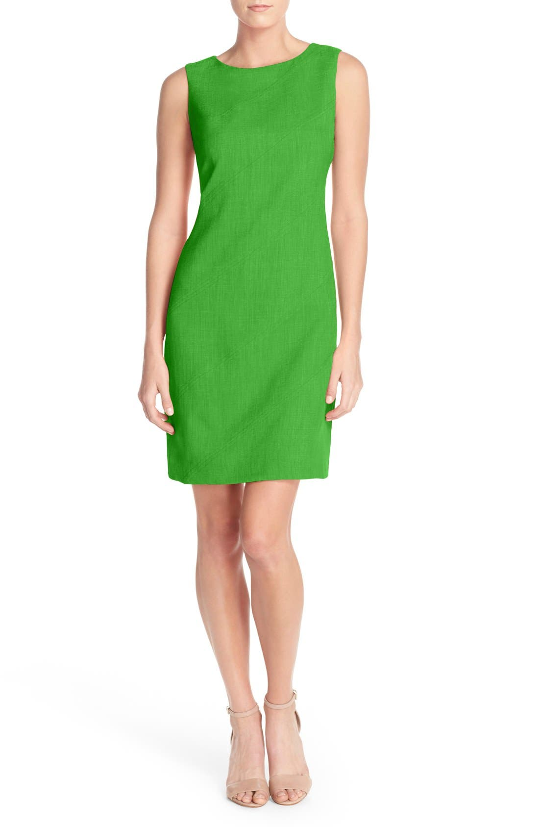 Alternate Image 3  - Ellen Tracy Seam Sheath Dress (Regular & Petite)