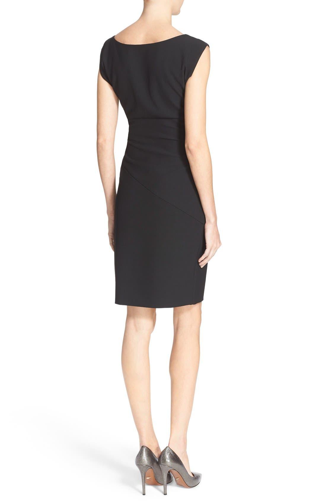 'Bevin' Sheath Dress,                             Alternate thumbnail 2, color,                             Black