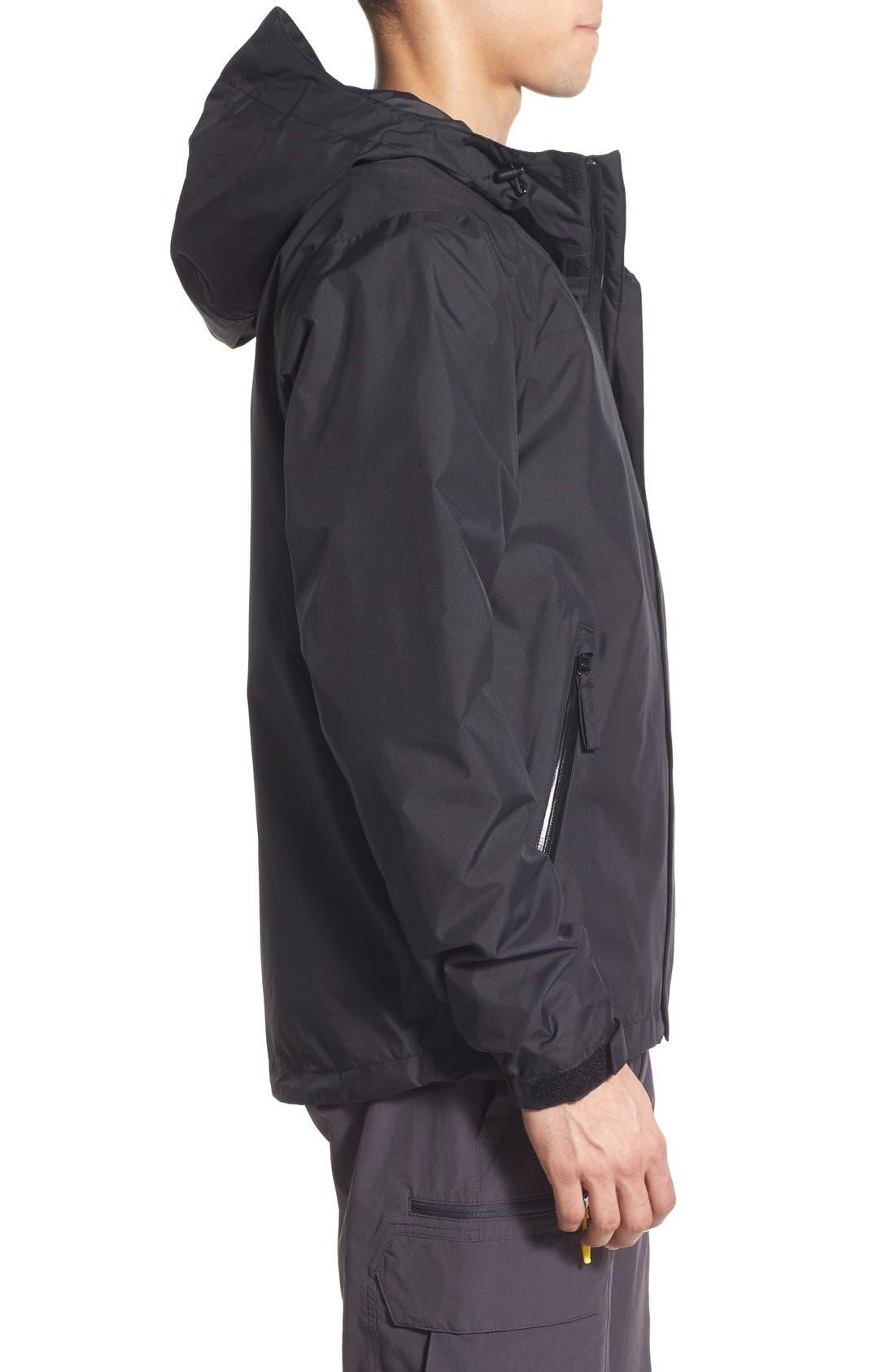 'Vancouver' Packable Rain Jacket,                             Alternate thumbnail 3, color,                             Black