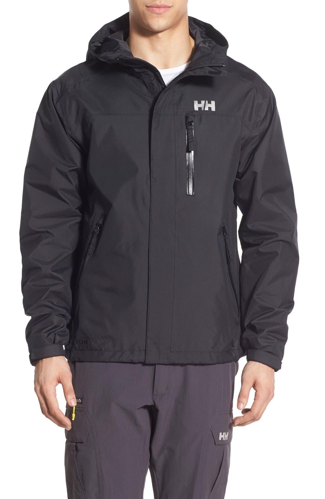 'Vancouver' Packable Rain Jacket,                         Main,                         color, Black