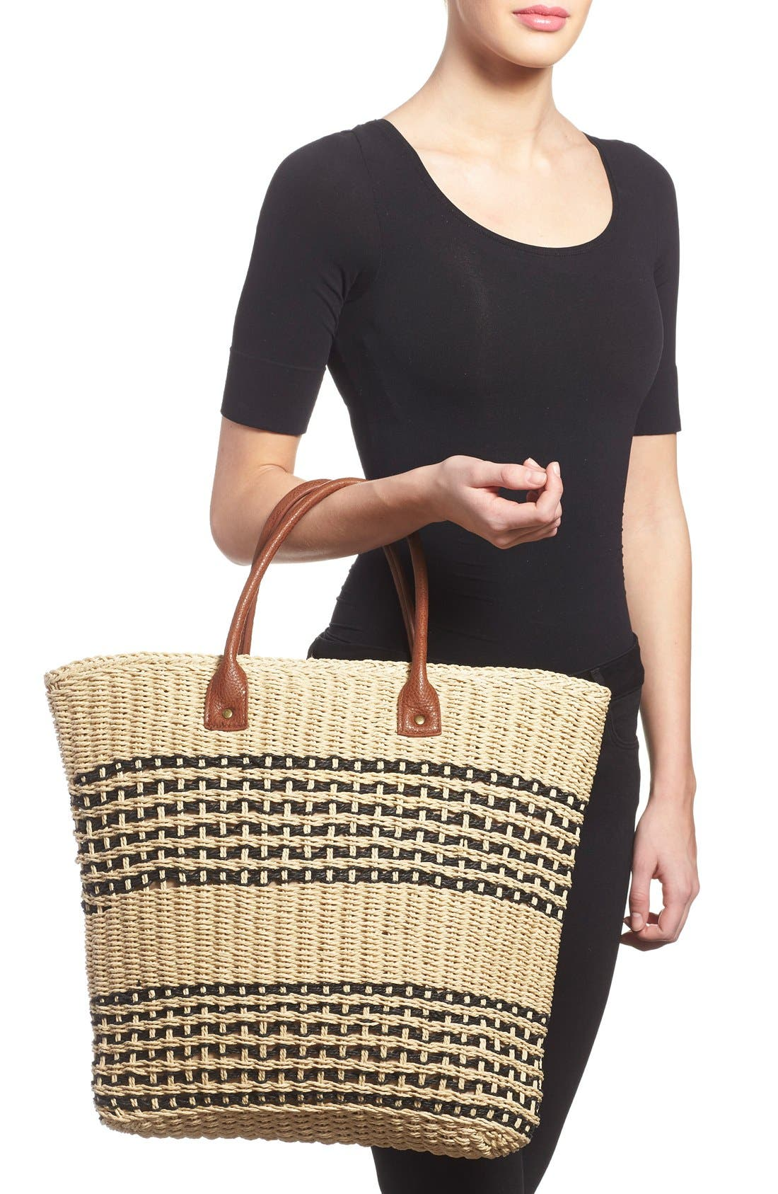 Alternate Image 2  - San Diego Hat Stripe Straw Tote
