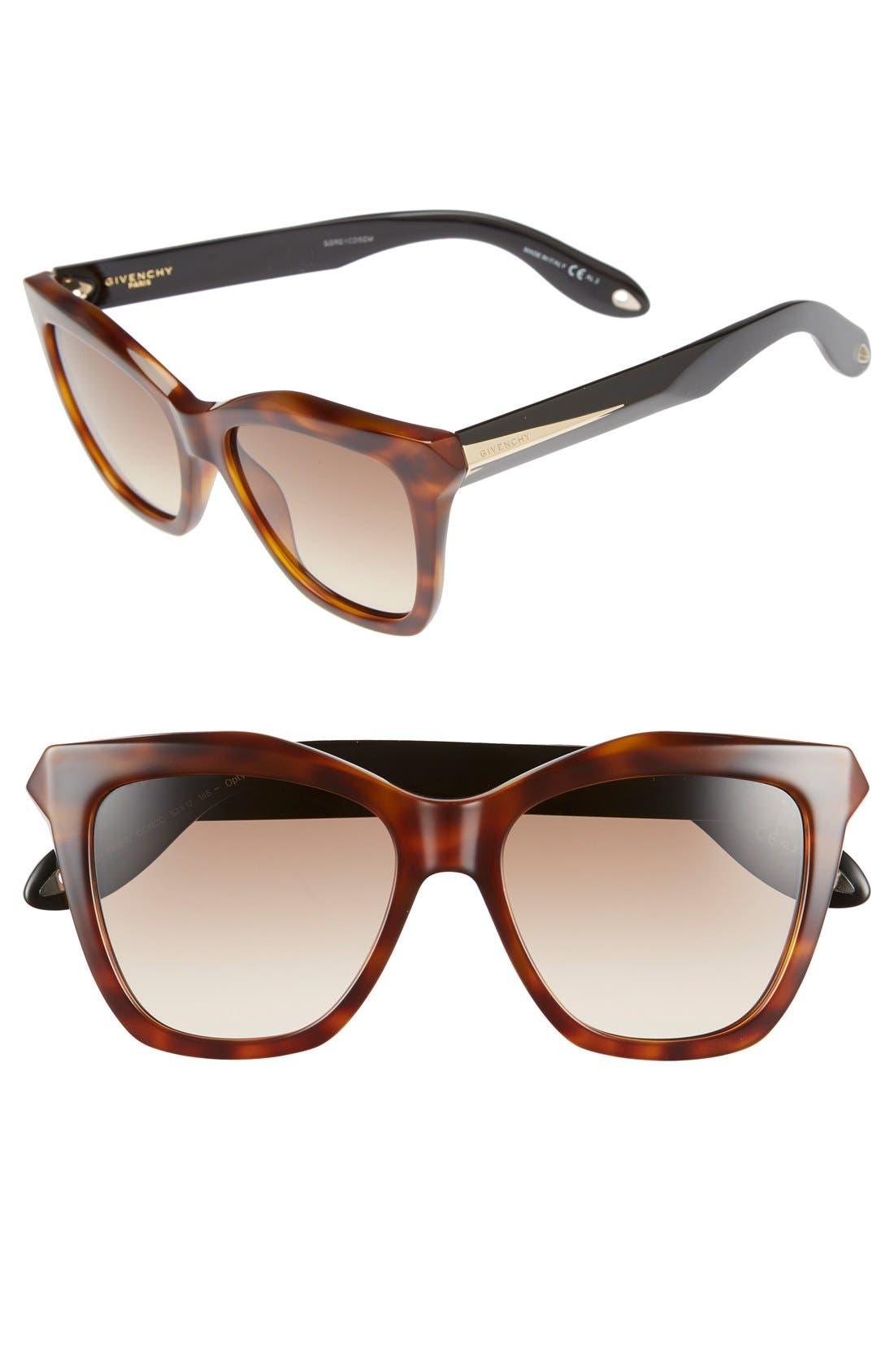 Givenchy 53mm Cat Eye Sunglasses