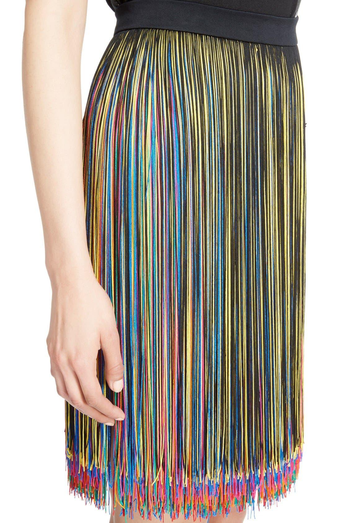 Alternate Image 6  - Christopher Kane Rainbow Fringe Skirt