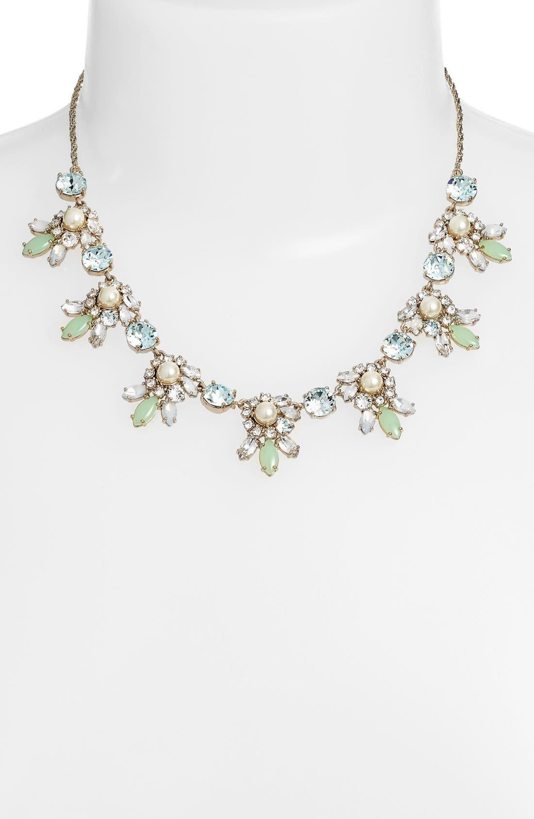 Alternate Image 2  - Marchesa Crystal Cluster Bib Necklace