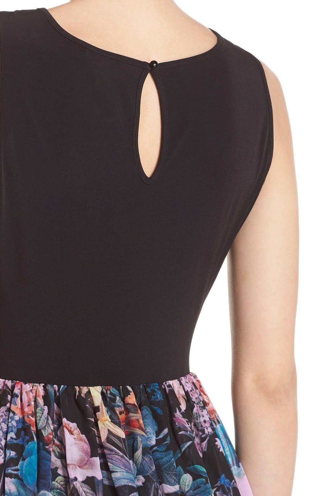Alternate Image 4  - ECI Jersey & Chiffon Maxi Dress