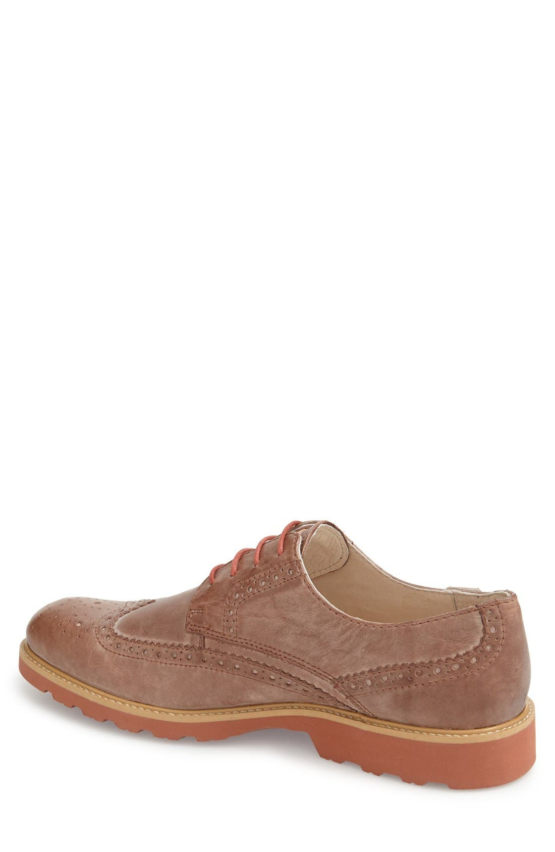'Glasgow' Wing Tip Oxford,                             Alternate thumbnail 2, color,                             Olmo Leather