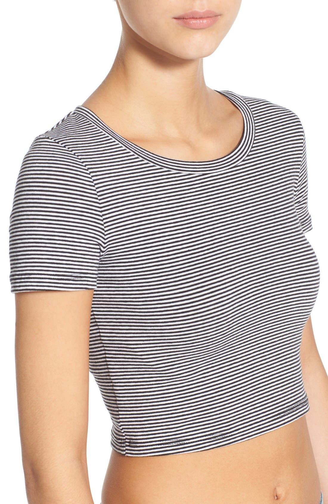 Alternate Image 5  - BP. Stretch Cotton Crop Tee