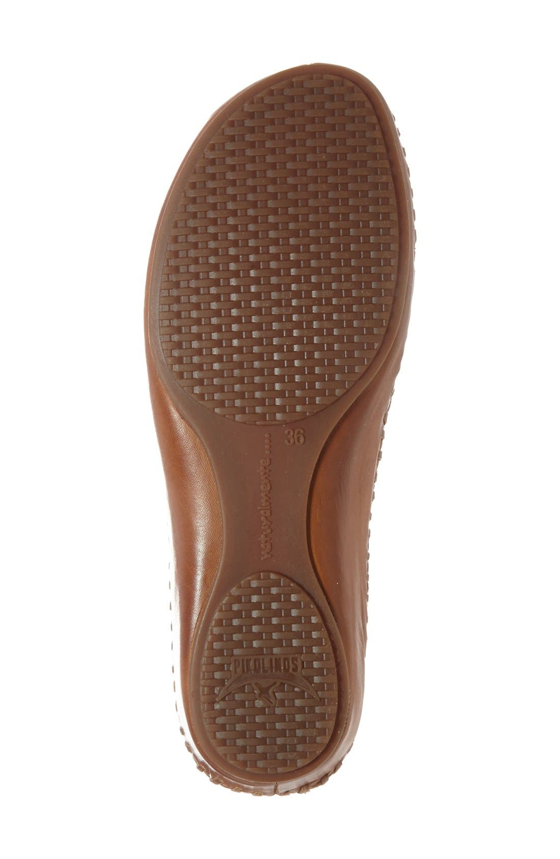'P. Vallerta' Leather Flat,                             Alternate thumbnail 4, color,                             Sandia Brandy Leather