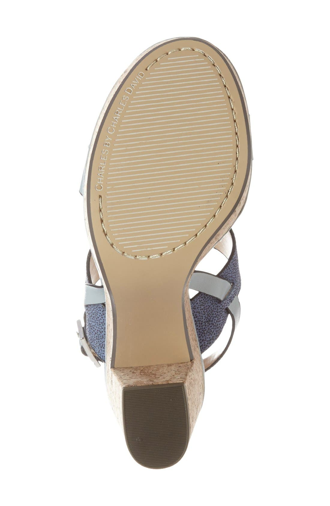Alternate Image 4  - Charles by Charles David 'Jangle' Platform Sandal (Women)