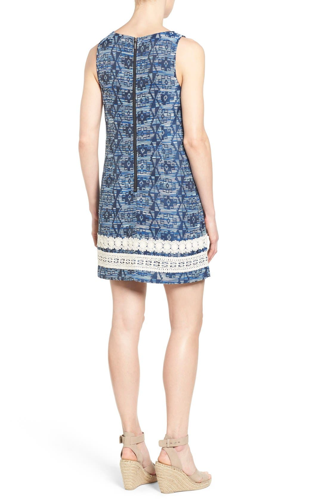 Alternate Image 2  - kensie Aztec Brocade Shift Dress