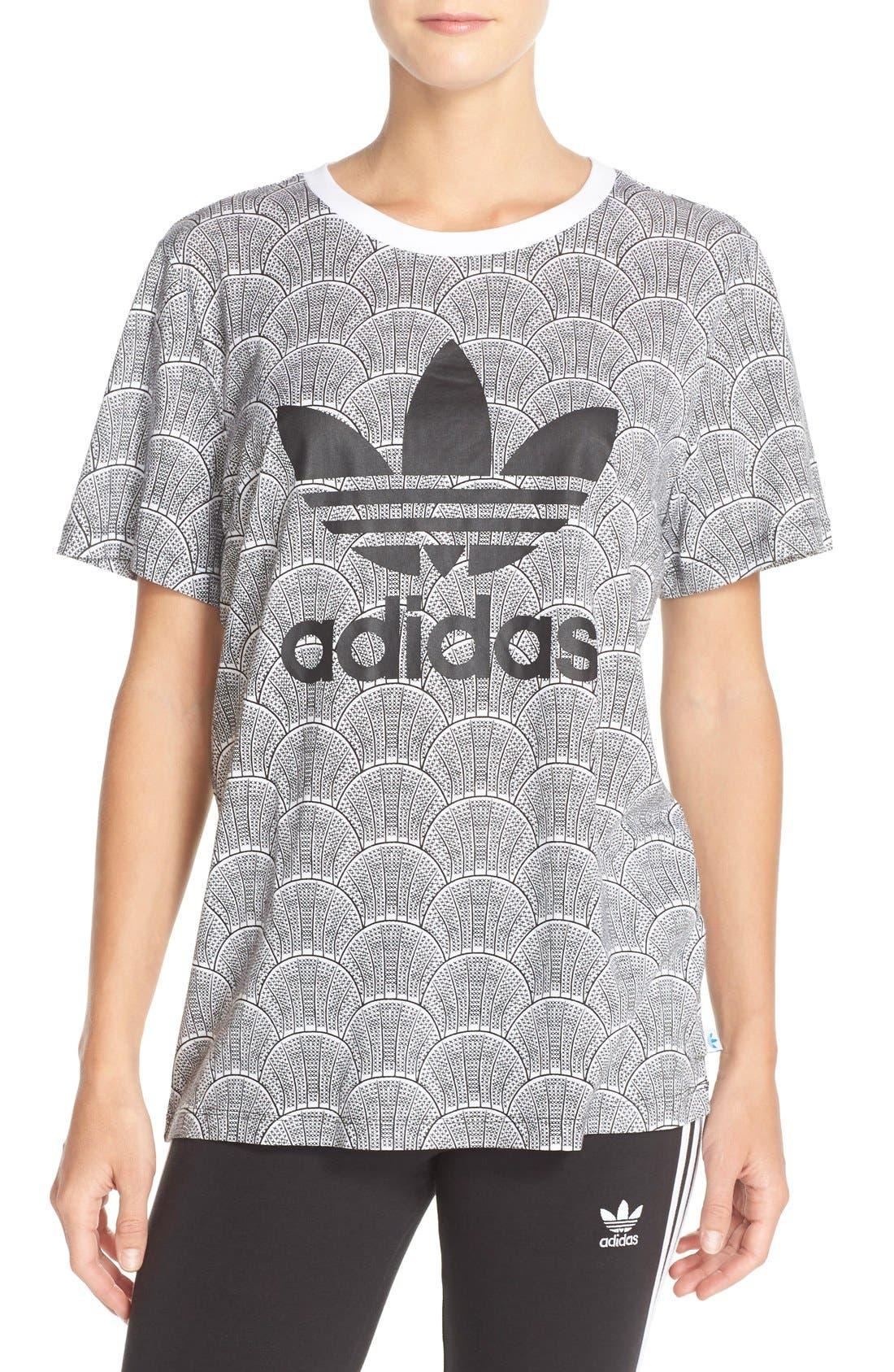 Alternate Image 1 Selected - adidas Originals 'Shell Tile' Boyfriend Tee