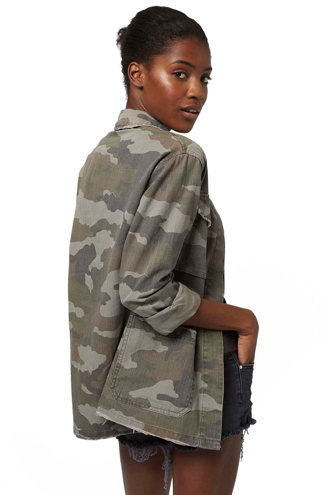 Alternate Image 4  - Topshop 'Sandy' Camo Print Shirt Jacket (Regular & Petite)