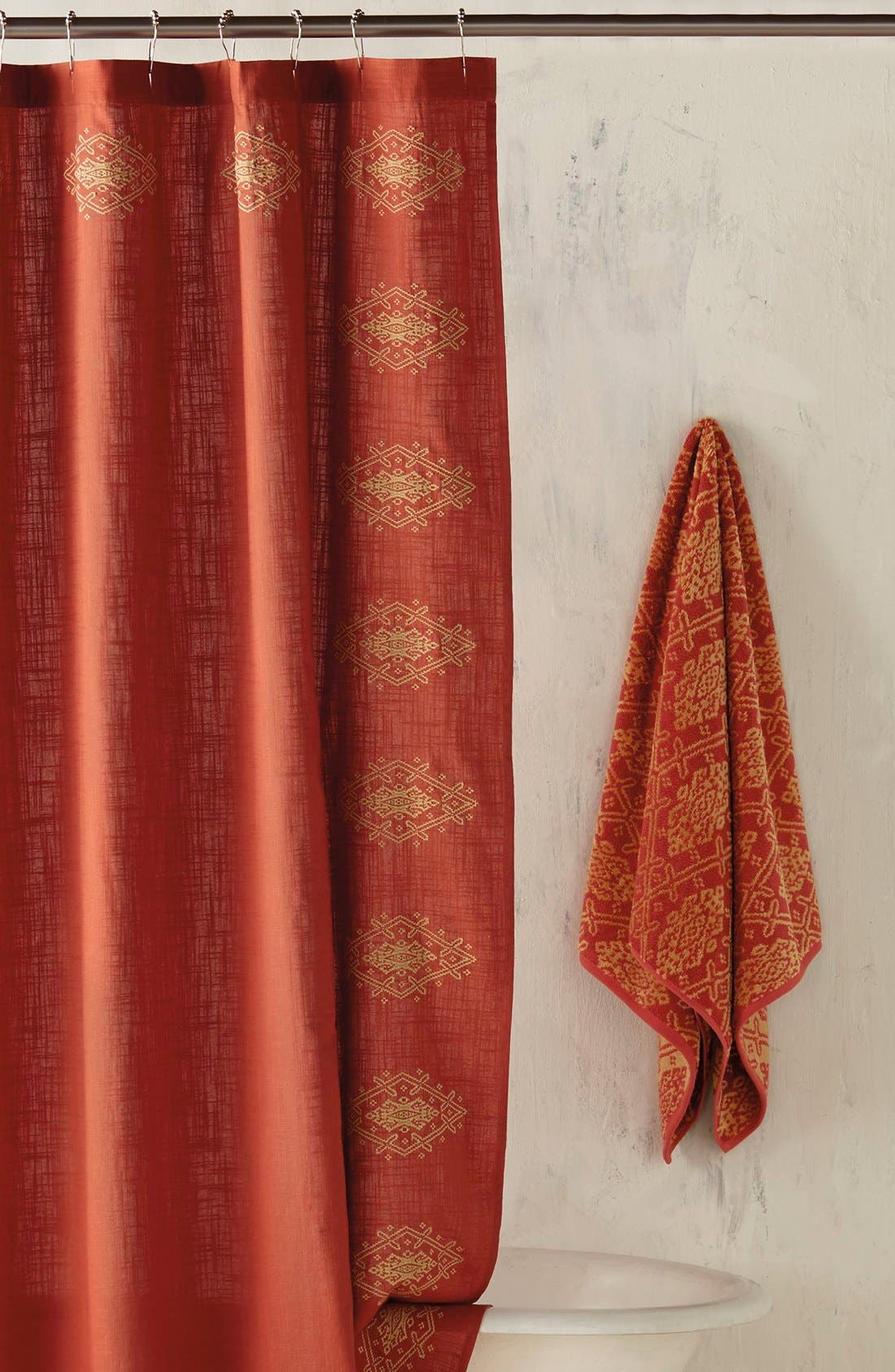 Red Shower CurtainRed Shower Curtain Liner Fresh Extra