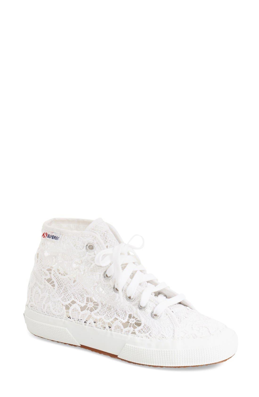 Alternate Image 1 Selected - Superga 'Macramew' High Top Sneaker (Women)