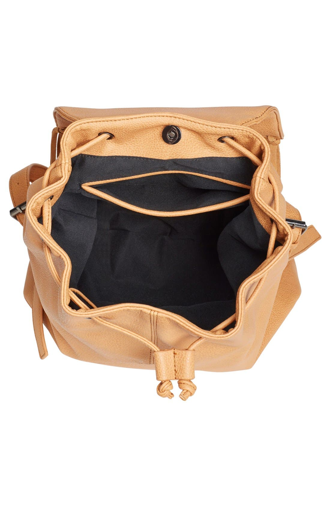 'Hartley' Faux Leather Backpack,                             Alternate thumbnail 4, color,                             Camel