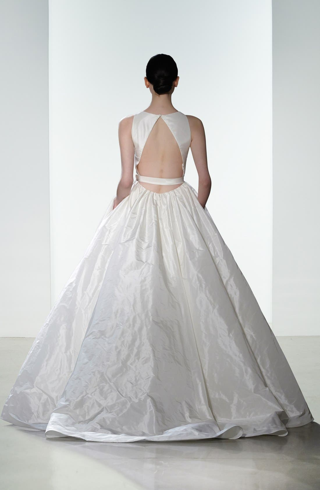 Alternate Image 2  - nouvelle AMSALE Troy Open Back Silk Taffeta Ballgown