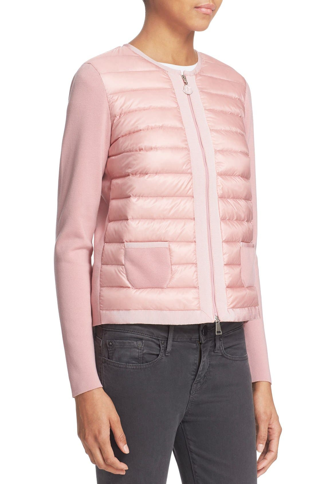 Alternate Image 6  - Moncler 'Maglia' Quilted Down Front Tricot Cardigan