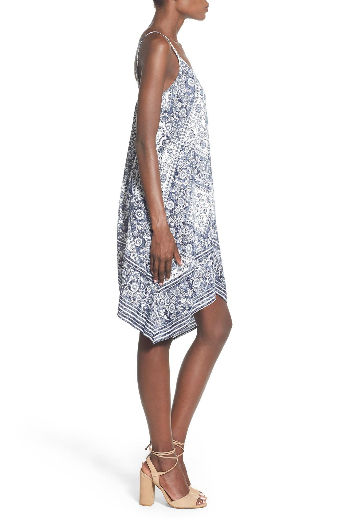 Alternate Image 3  - Trixxi Bandana Print Handkerchief Hem Dress