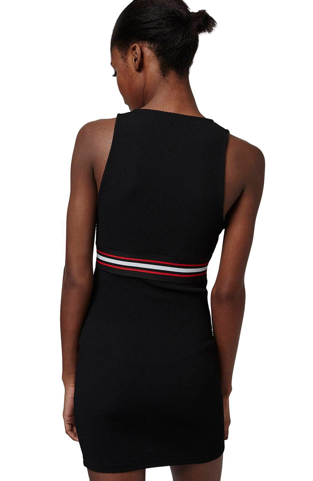 Alternate Image 2  - Topshop 'Sporty' Plunge Body-Con Dress (Petite)