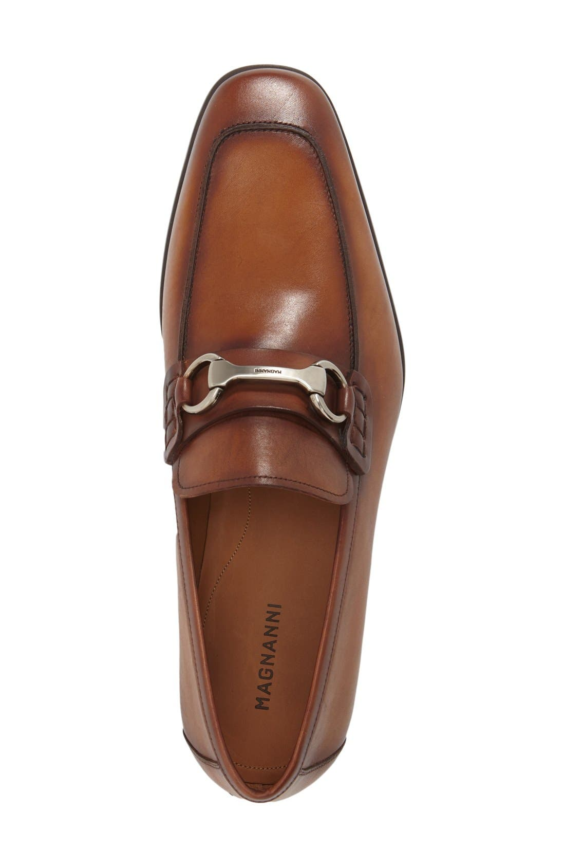 'Rafa II' Bit Loafer,                             Alternate thumbnail 3, color,                             Cognac Leather