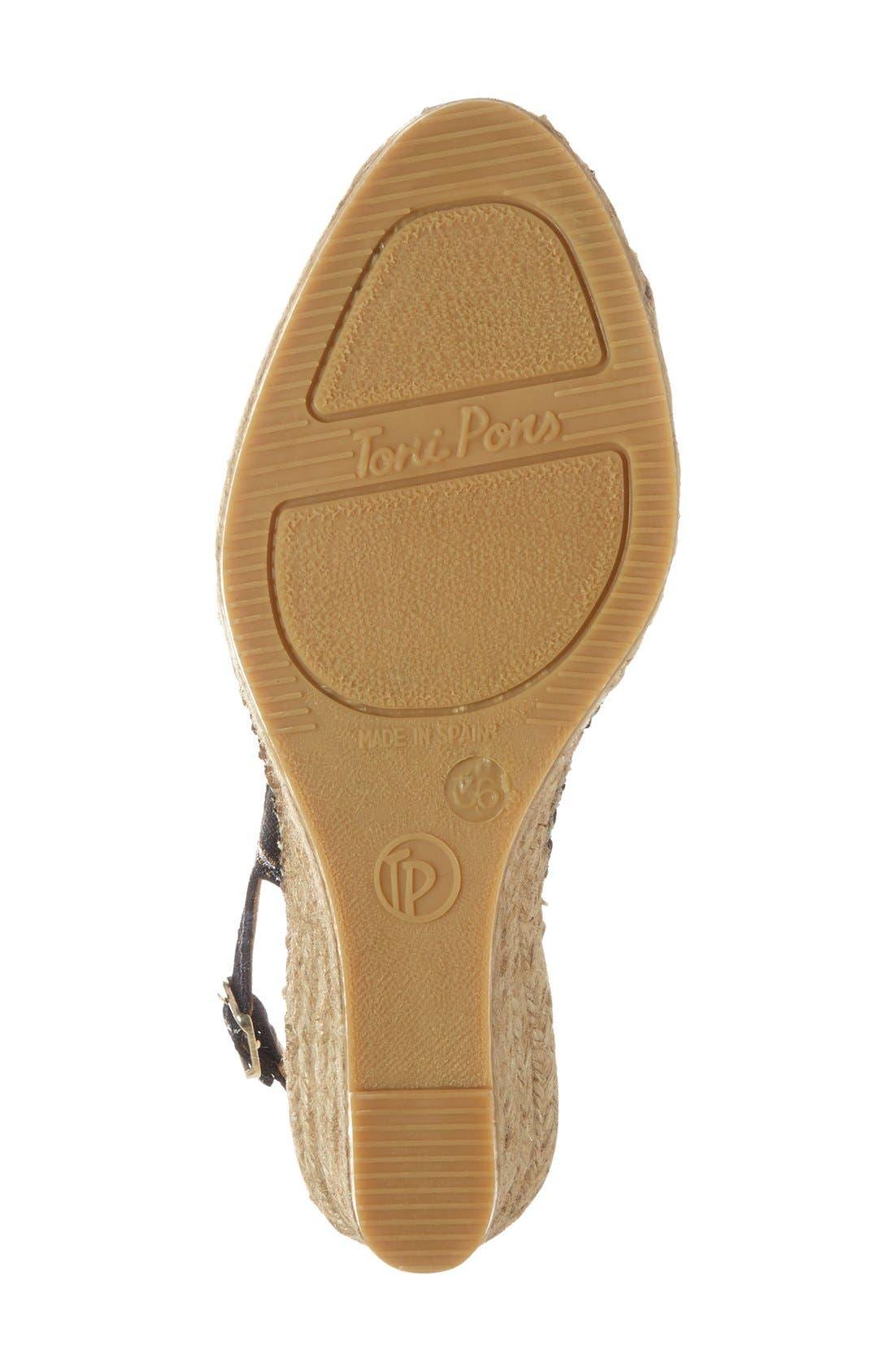 Alternate Image 4  - Toni Pons 'Carmina' Silk Slingback Wedge Sandal (Women)