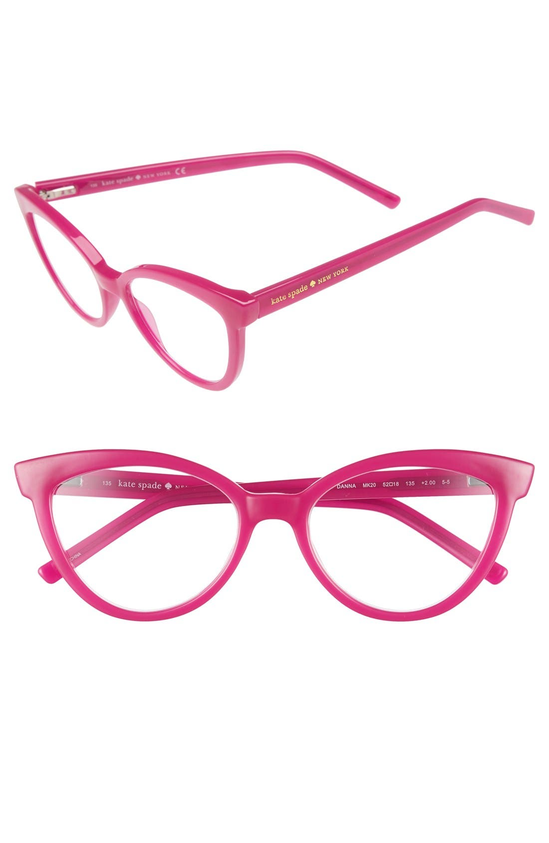 kate spade new york 'danna' 52mm cat eye reading glasses (2 for $88)