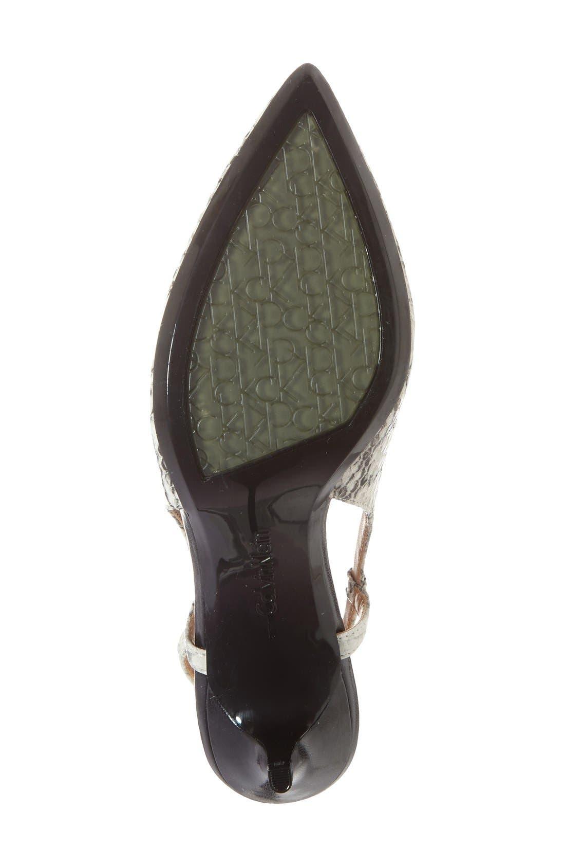 Alternate Image 4  - Calvin Klein 'Patsi' Slingback Pointy Toe Pump (Women)