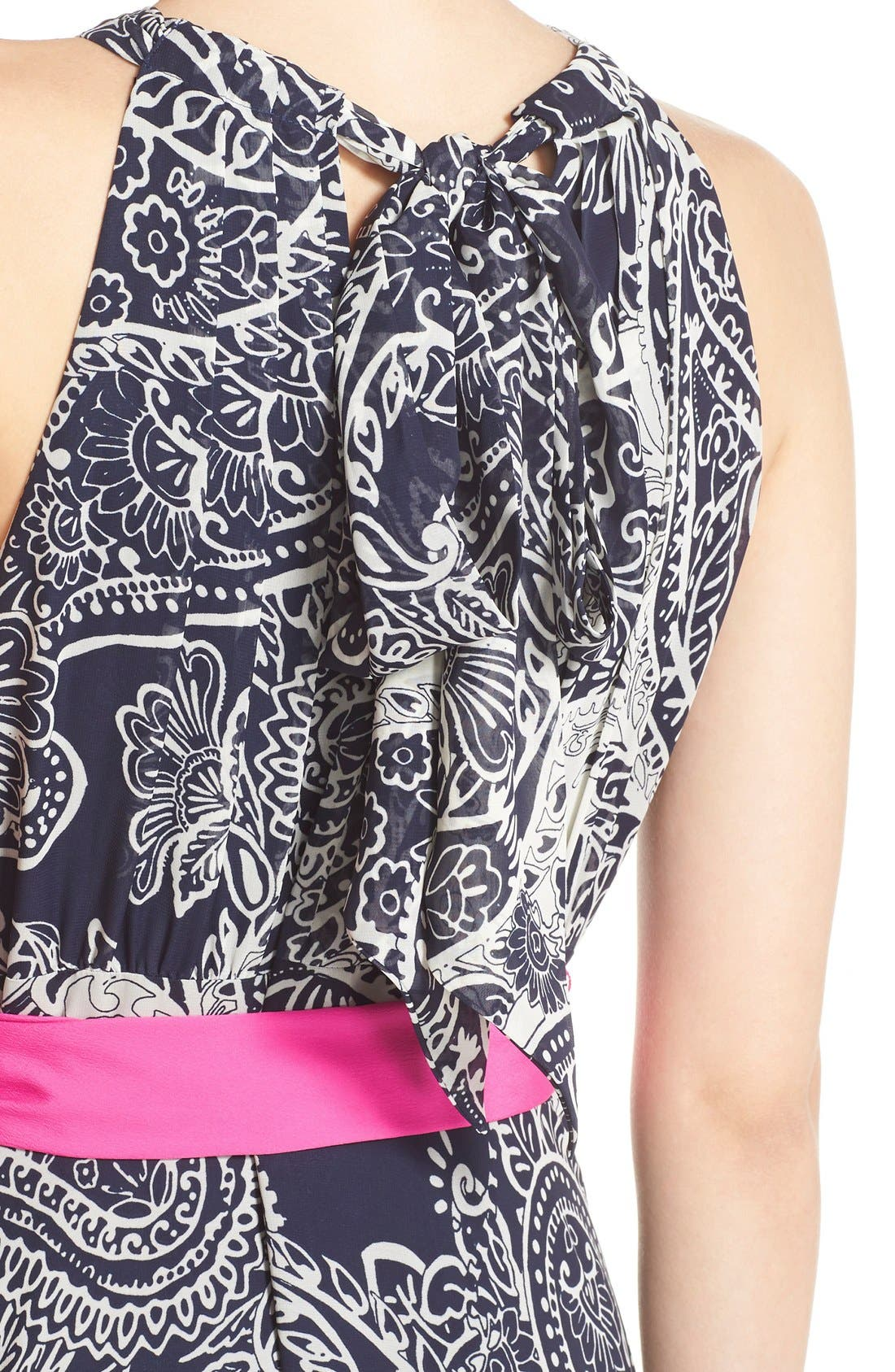 Alternate Image 4  - Eliza J Print Chiffon Maxi Dress