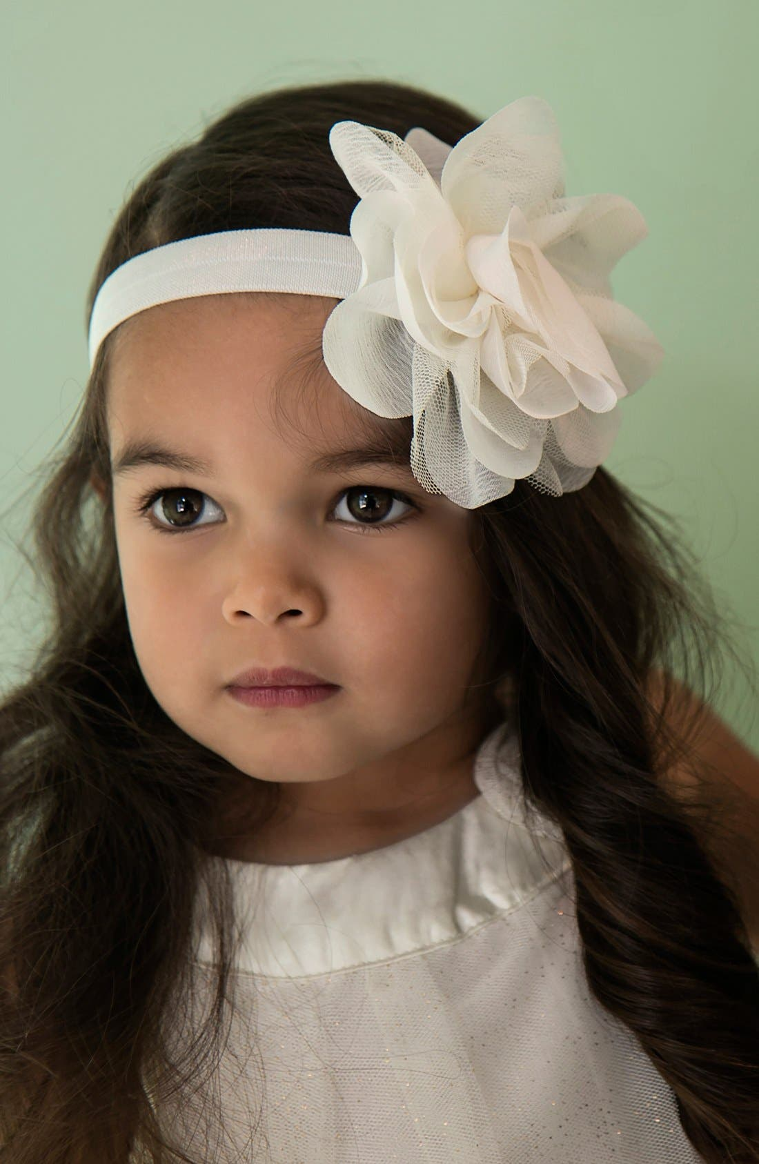 Alternate Image 3  - PLH Bows & Laces Chiffon & Tulle Flower Head Wrap (Baby Girls)