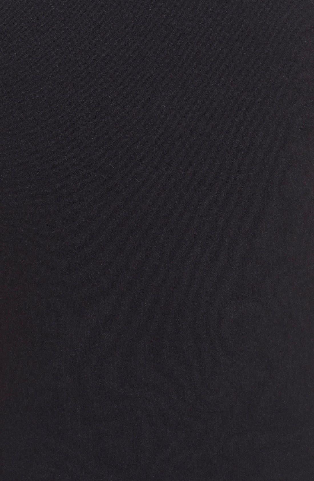 Ruched Tank Dress,                             Alternate thumbnail 5, color,                             True Black
