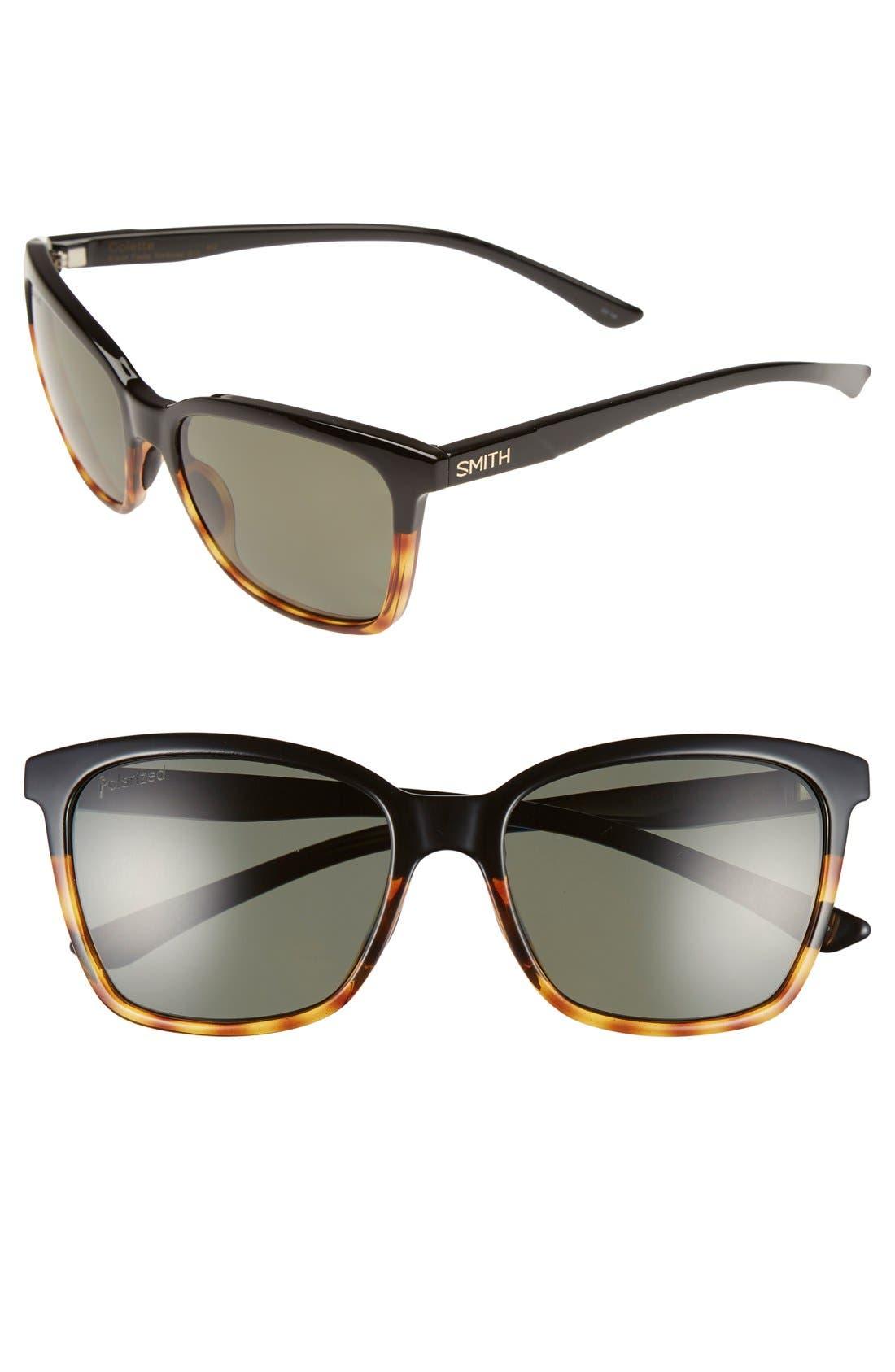 Smith 'Colette' 55mm Polarized Sunglasses