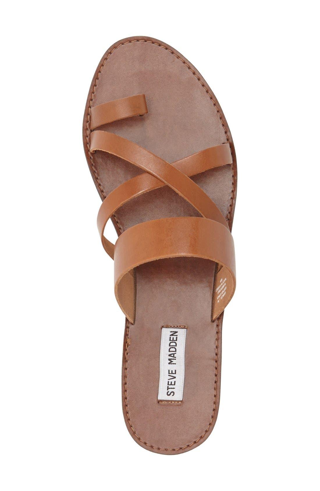 'Ambler' Sandal,                             Alternate thumbnail 3, color,                             Tan Leather