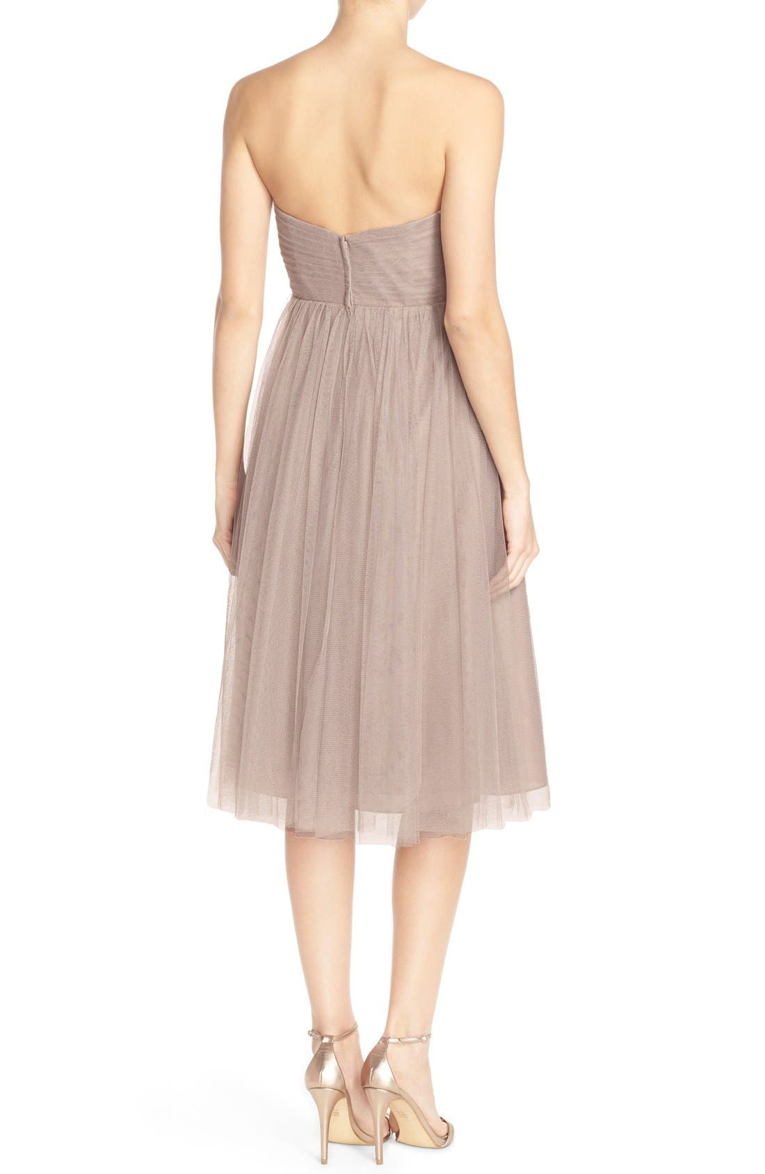 Alternate Image 2  - Jenny Yoo 'Maia' Convertible Tulle Tea Length Fit & Flare Dress