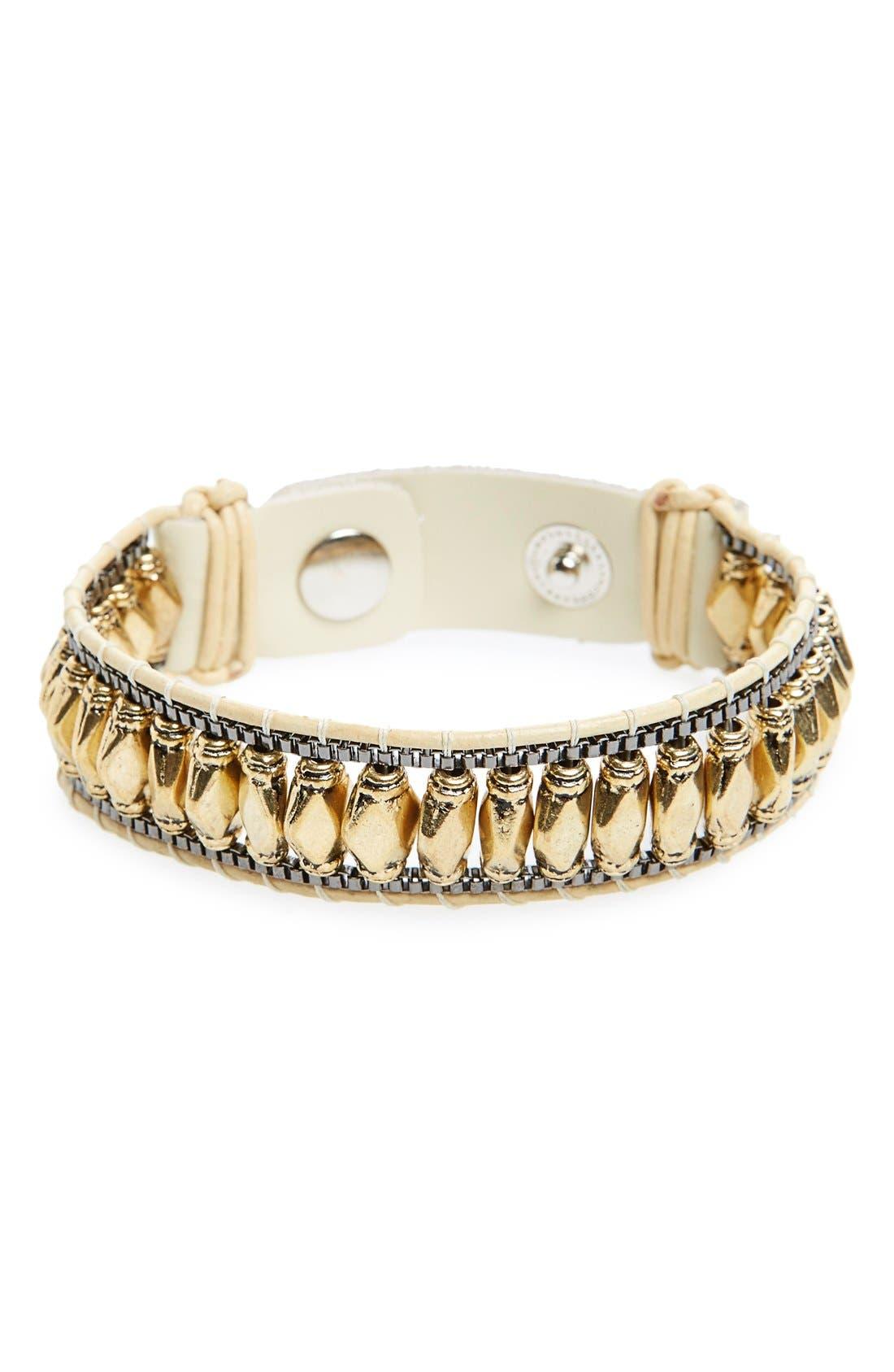 Alternate Image 1 Selected - Nakamol Design Leather Bracelet