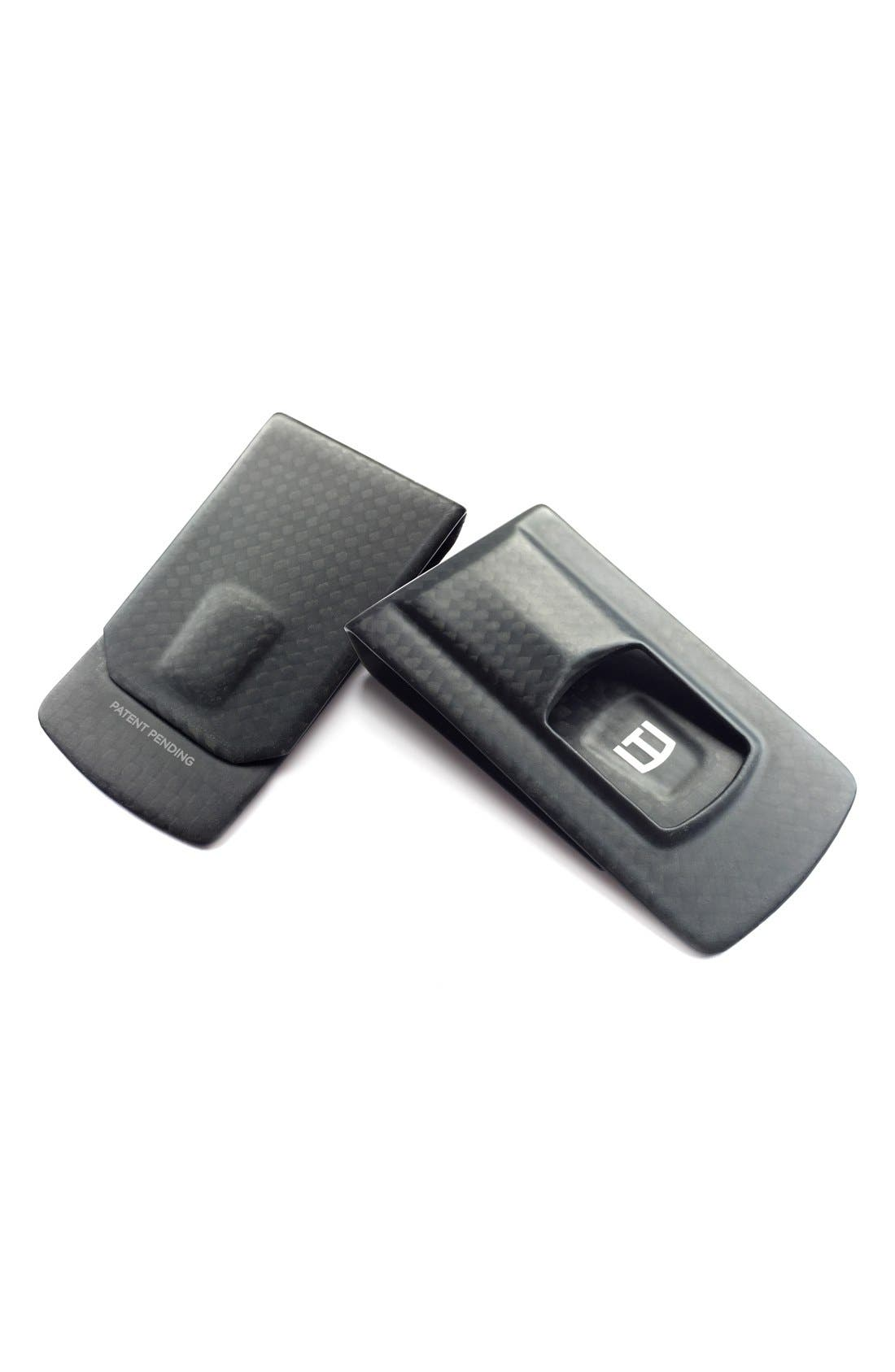 Carbon Fiber Money Clip,                         Main,                         color, Black Carbon Fiber