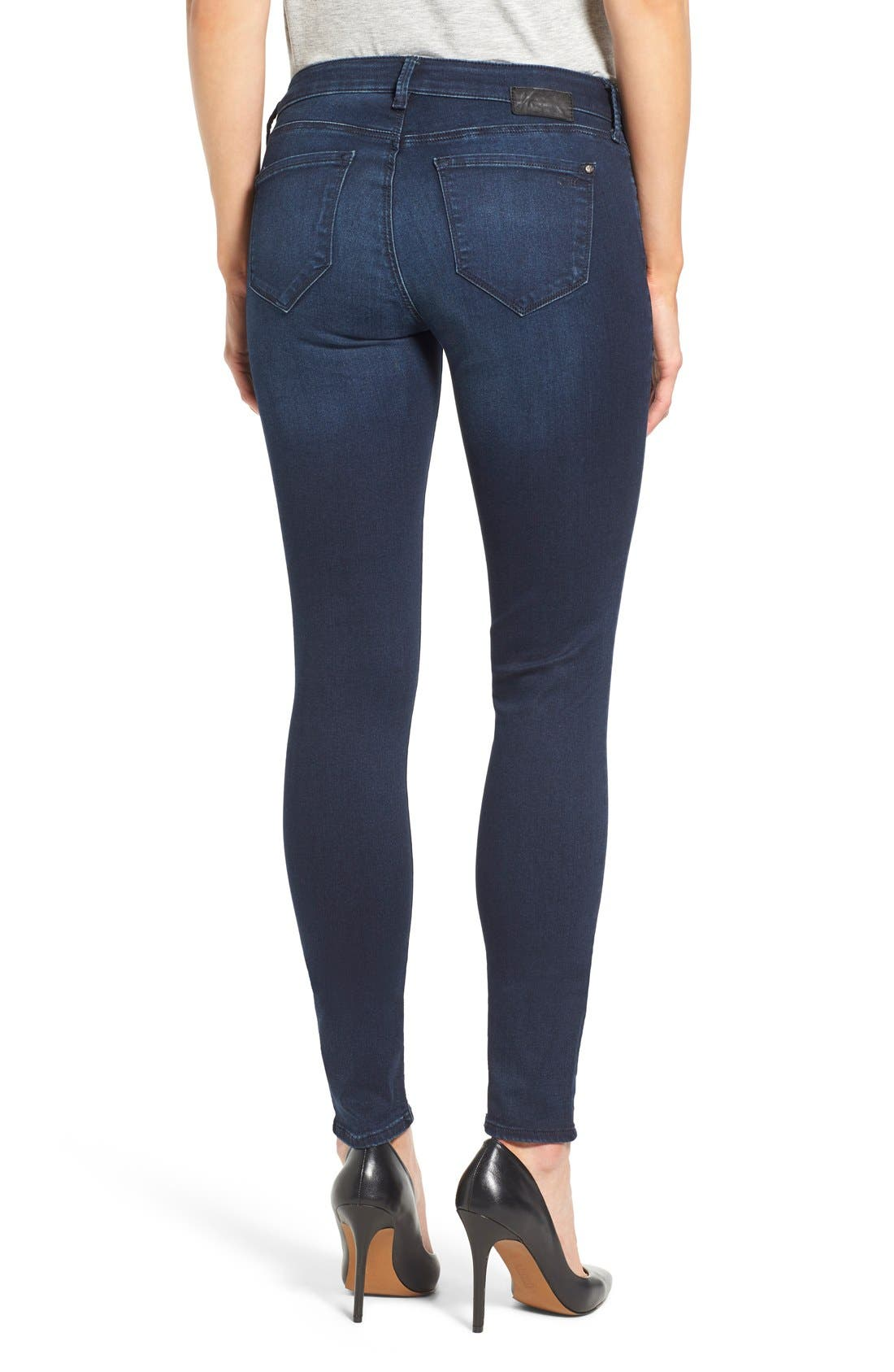 'Adriana' Stretch Skinny Jeans,                             Alternate thumbnail 2, color,                             Dark Blue