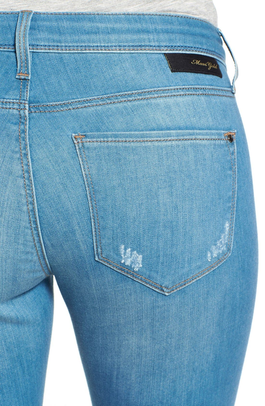 Alternate Image 4  - Mavi Jeans Gold 'Alexa' Stretch Ankle Skinny Jeans