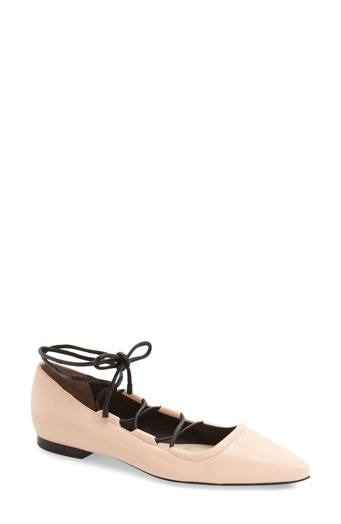 Alternate Image 1 Selected - 3.1 Phillip Lim 'Martini' Lace-Up Flat (Women)