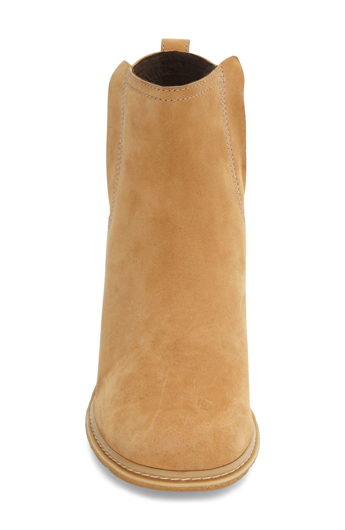 'Amston' Chelsea Wedge Boot,                             Alternate thumbnail 3, color,                             Wheat Nubuck Leather