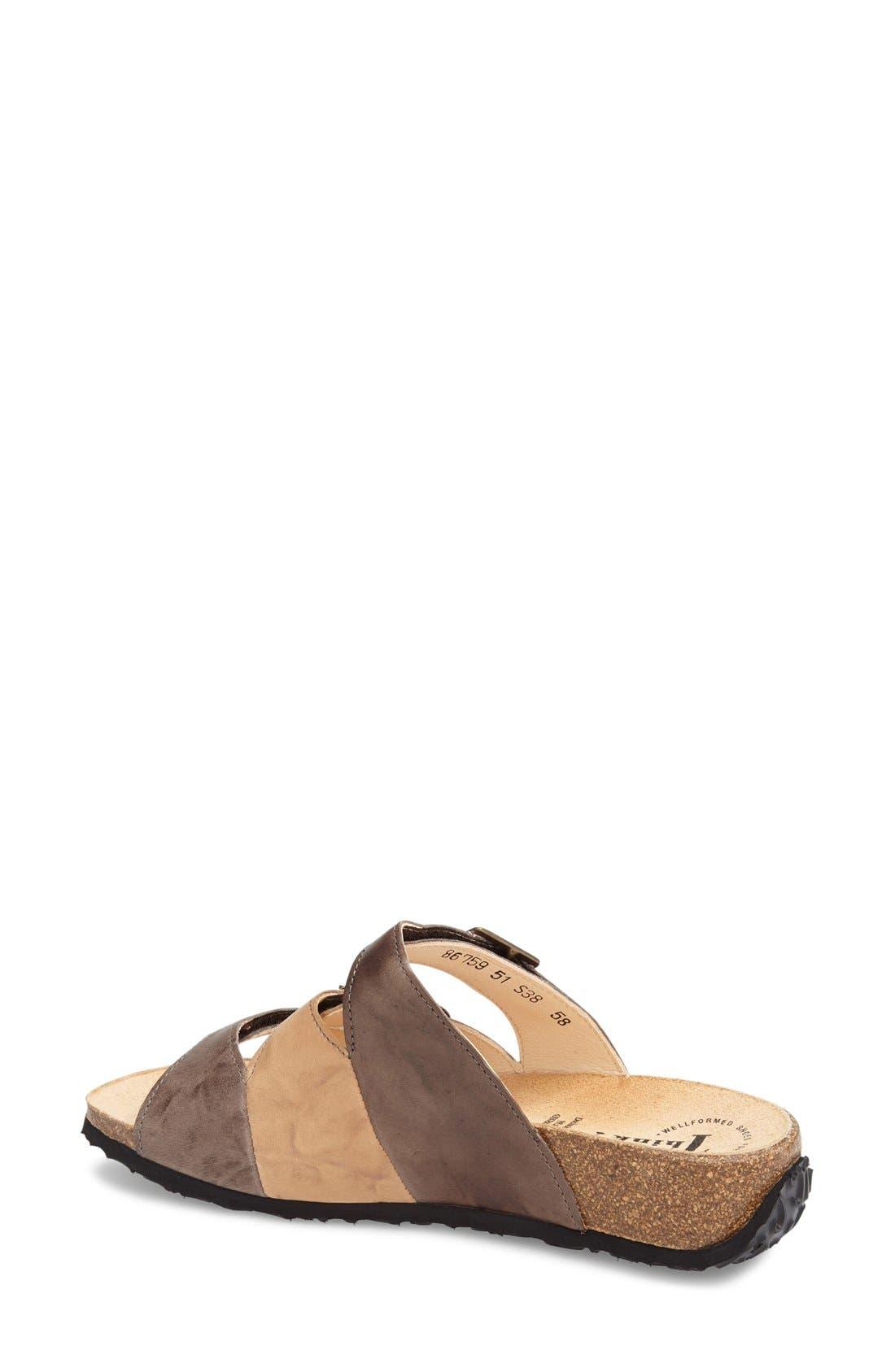 'Mizzi' Sandal,                             Alternate thumbnail 2, color,                             Cappucino Leather