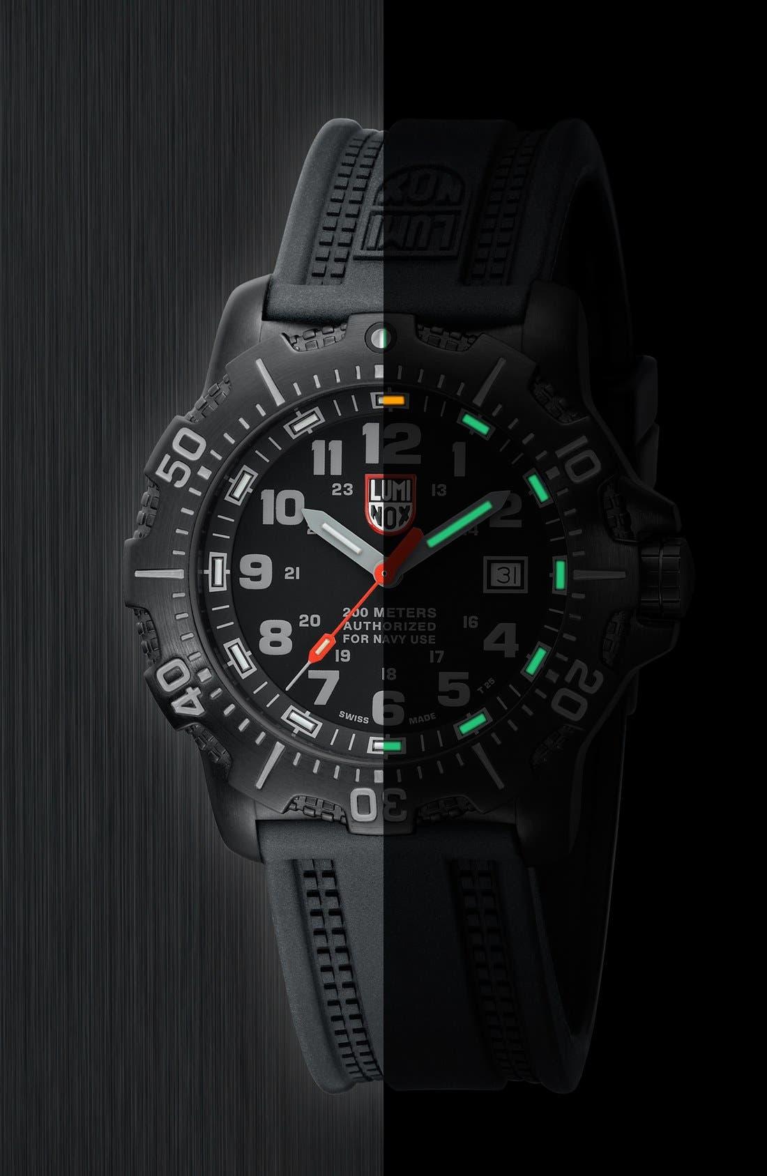 Alternate Image 5  - Luminox 'Sea - ANU' Polyurethane Strap Watch, 45mm