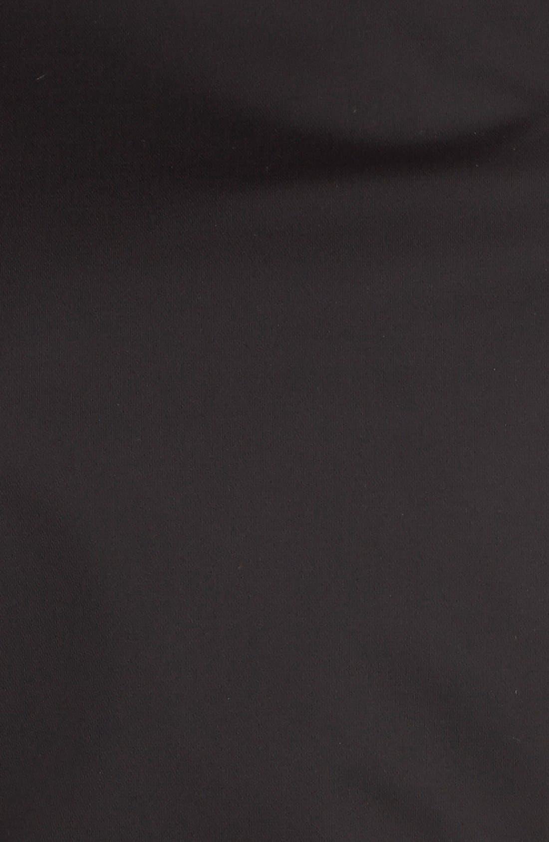 Short Zip Trench Coat,                             Alternate thumbnail 5, color,                             Black
