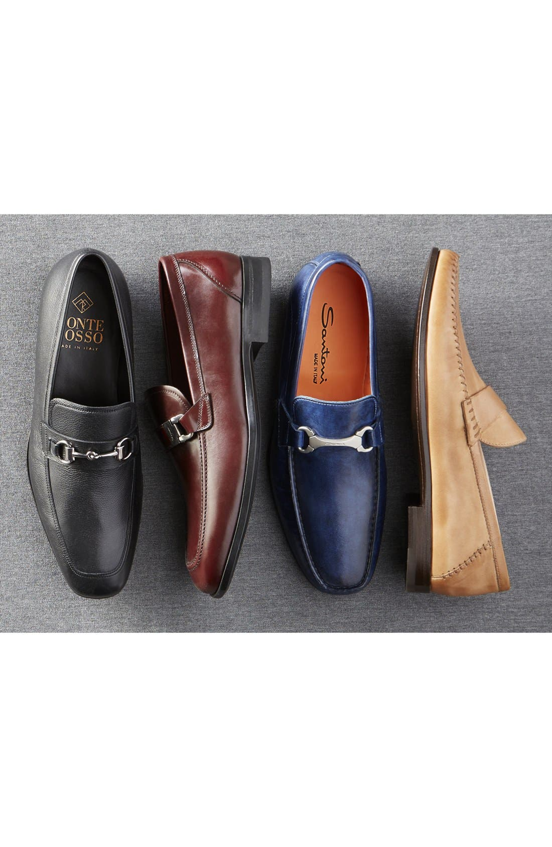 'Paine' Leather Loafer,                             Alternate thumbnail 5, color,