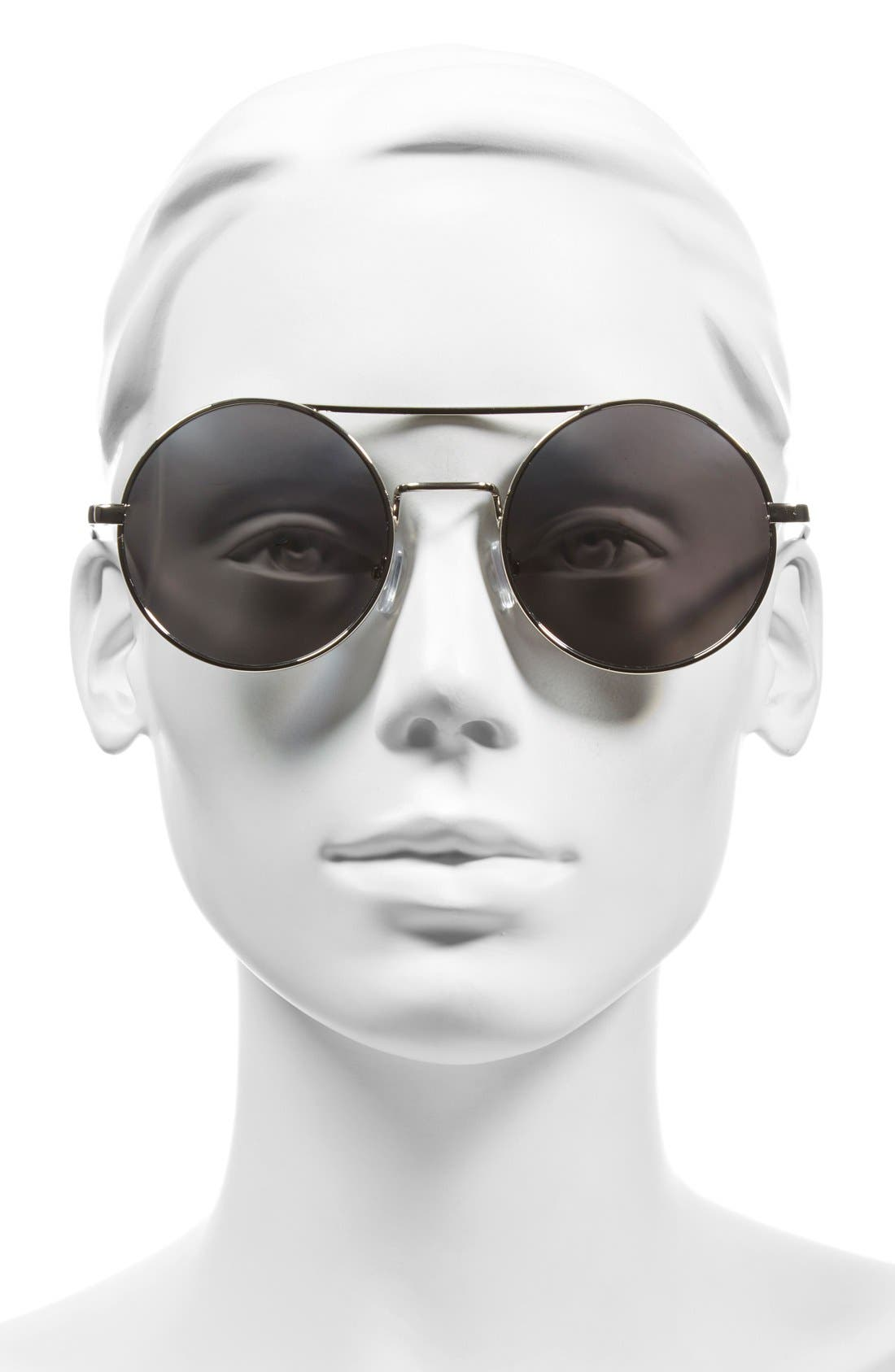 Alternate Image 2  - A.J. Morgan 'Eclipse' 54mm Round Mirror Lens Sunglasses