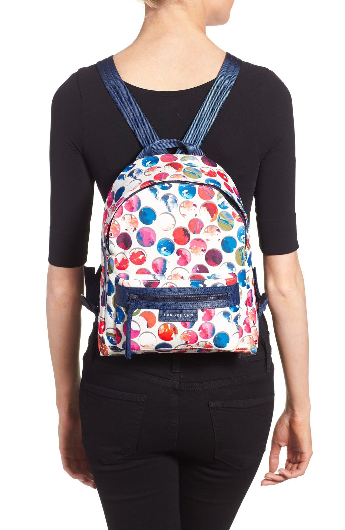 Alternate Image 2  - Longchamp 'Small Le Pliage - Neo Fantaisie' Canvas Backpack